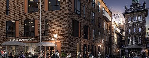 I dag blev første spadestik taget til Laura Hus i Carlsberg Byen. En erhvervsbygning med en unik placering ved siden af Elefantporten og tæt på Søndermarken. (Illustration: Cadwell)