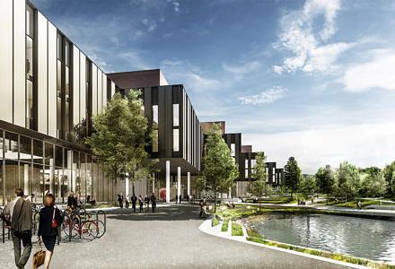 MOE er med på byggeriet af Norges største universitetsbyggeri, Livsvitenskapsbygget. (Illustration: MOE)