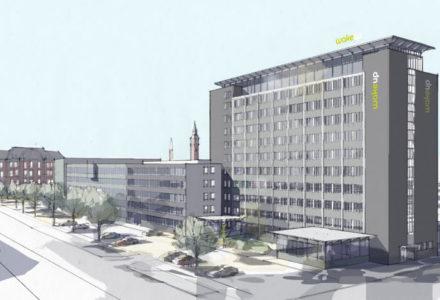 Der kommer til at være god udsigt fra toppen af det nye Wakeup-hotel i København.