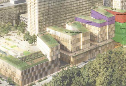 Sådan kommer Rigshospitalets nye nordfløj til at se ud med udvidelsen.