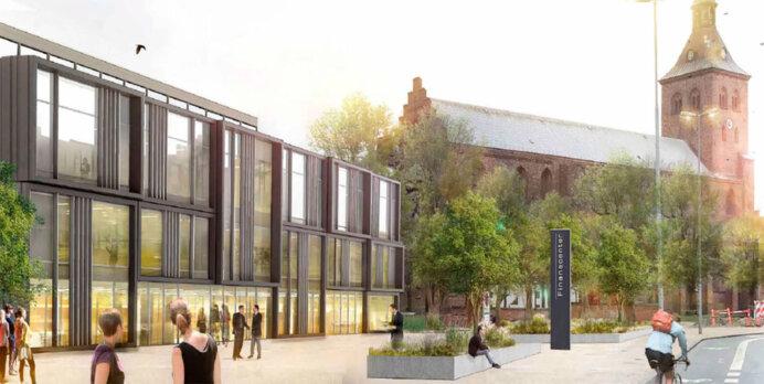 Danske Bank har til huse i denne bygning i Odense, som PensionDanmark nu har købt af KPC Herning.