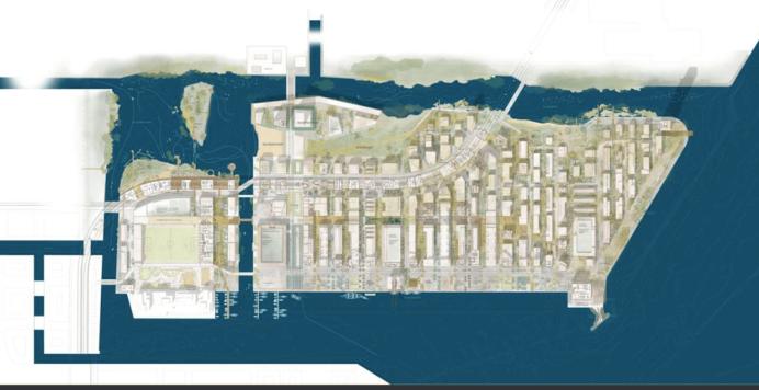 Levantkaj i Nordhavn som Entasis forestiller sig kvarteret i fremtiden.