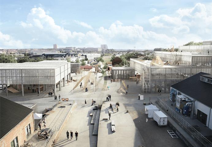 Visualisering af Vargo Nielsen Palle, ADEPT og Rolvung og Brøndsted Arkitekter.