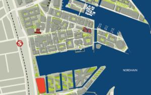 PwC bygger nyt domicil i Nordhavn på Marmormolen. Skitse By og Havn.