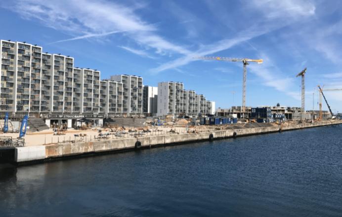 Byggeri på Aarhus Ø.