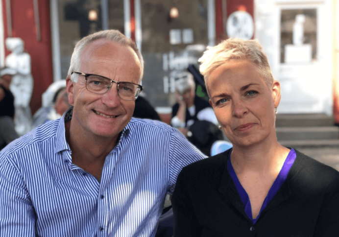 Marius Møller og Mia Manghezi, PensionDanmark.