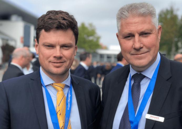 Senior Relationship Manager Ulrik Hornstrup og Vicedirektør Bjarne Jørgensen (tv), Realkredit Danmark.