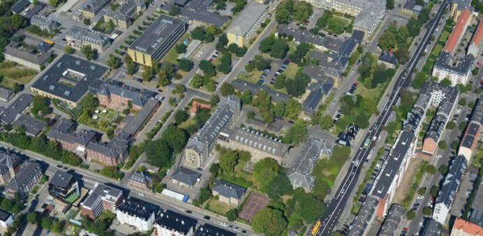 Hospitalsgrunden på Nordre Fasanvej på Frederiksberg. Foto: Frederiksberg Kommune