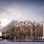 Det kommende parkeringshus ved den nye metrostation i Nordhavn. Illustration: Vilhelm Lauritzen Arkitekter