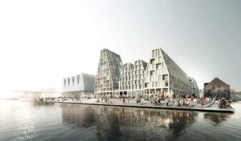 Christiansholm-byggeriet på Papirøen i Københavns Inderhavn. Illustration: Cobe