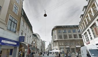 Gaden Vimmelskaftet er en del af Strøget i København og ligger mellem Nygade og Amagertorv. Foto: Google Maps