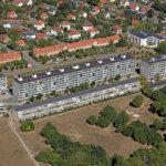 Vestervang er en boligbebyggelse nord for Botanisk Have og Den Gamle By i Aarhus. Foto: Colliers