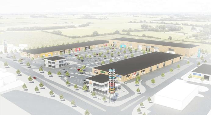 Sådan skulle NPV's BIG-shoppingcenter i Holbæk have set ud. Illustration: Vilhelm Lauritzen Arkitekter