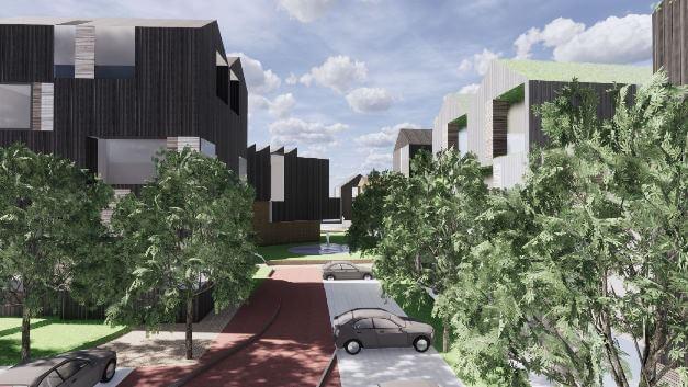 Projektet med 160 boliger i Frederikssund. Illustration: Schmidt Hammer Lassen Architects