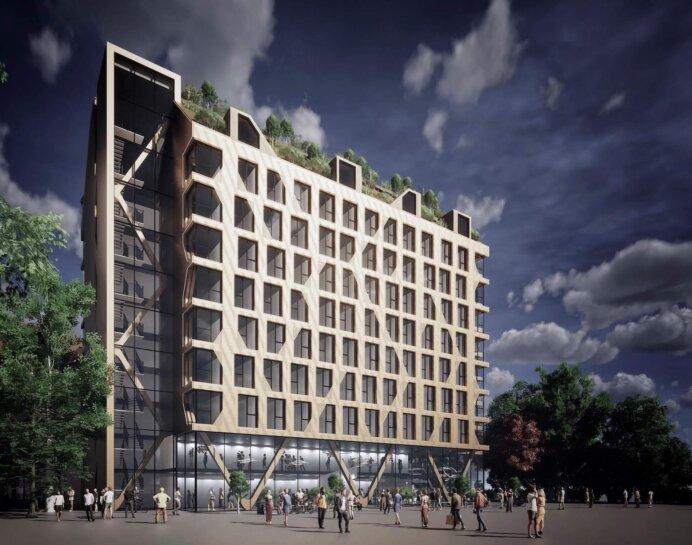 Det cirka 20.000 kvm store Basecamp Student-projekt i Malmø. Illustration: Lars Gitz Architects