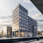 Flerbrugerhuset 'Nest45' på Ørestads Boulevard i Ørestad. Illustration: Holscher Nordberg Architects