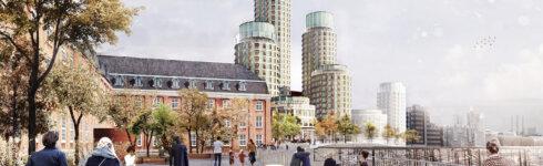Postbyen mellem Københavns Hovedbanegård og Kalvebod Brygge. Illustration: Lundgaard & Tranberg Arkitekter
