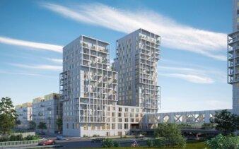Bolig- og erhvervsprojektet Rødovre Port. Illustration: Arkitema Architects