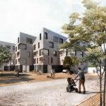 De små matrikler i området omkring Arresøvej i Risskov Engby er samlet i klynger af tre. Illustration: Aarhus Kommune